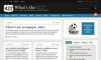 The new look of WhatsThe422.com.