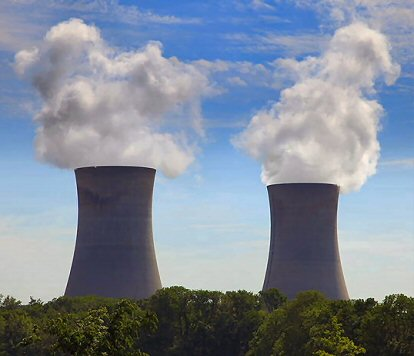 The twin cooling towers at Limerick Generating Station